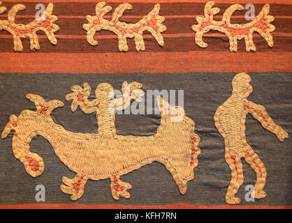 Detail of Tapis skirt from the Lampung region of Sumatra, Indonesia. Paminggir or Abung people. Southeast Asia - Stock Photo