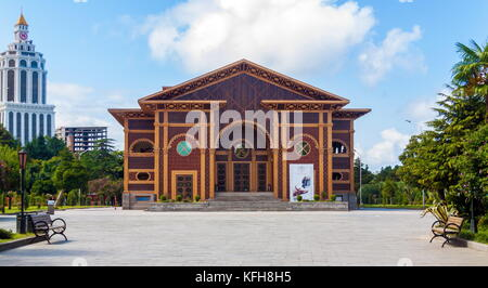 BATUMI, GEORGIA - September 1, 2017: Batumi boulevard and the Summer Theatre. Batumi is a very popular destination - Stock Photo