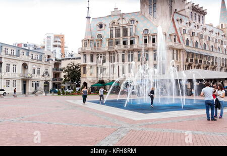 BATUMI, GEORGIA - September 1, 2017: People in the Batumi center. Batumi is a very popular destination on Black - Stock Photo