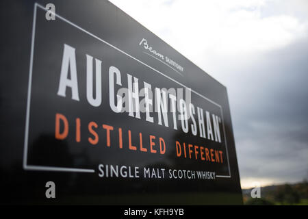 Auchentoshan Whisky Distillery, in Glasgow, Scotland, on 25 October 2017. - Stock Photo