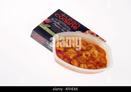 Cooked Lean Cuisine frozen tv dinner - Stock Photo