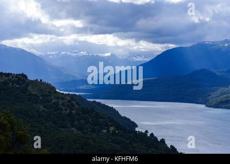 Lago Lacár, San Martín de los Andes, Neuquen, Argentina - Stock Photo