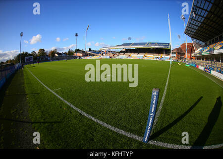 Headingley Carnegie Stadium, Leeds, UK 29th October 2017. Yorkshire Carnegie vs Bedford Blues RFC   General Stadium - Stock Photo
