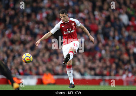 London, UK. 28th Oct, 2017. Granit Xhaka (A) at the English Premier League game between Arsenal and Swansea City - Stock Photo