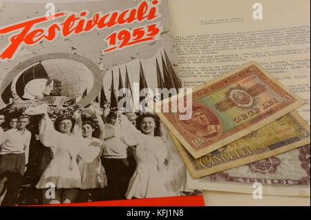 The 4th World Festival of Youth and Students, 1953, were held in Bucharest, Romania. The festival has been held - Stock Photo