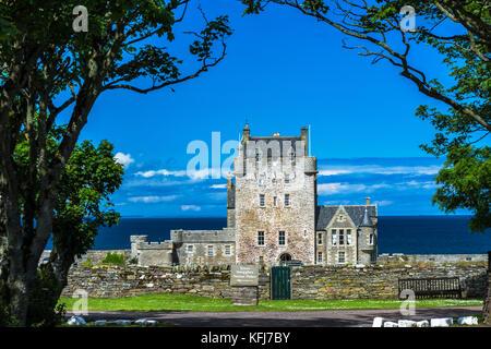 Ackergill Tower Hotel, Wick, Caithness, Scotland, United Kingdom - Stock Photo