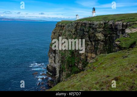 Dunnet Head Lighthouse, Caithness, Scotland, United Kingdom - Stock Photo