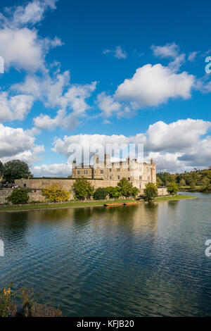 Leeds Castle.Maidstone,Kent,England,UK - Stock Photo