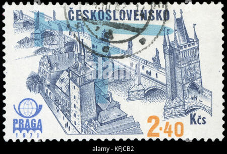 Postage Stamp - Czechoslovakia - Stock Photo