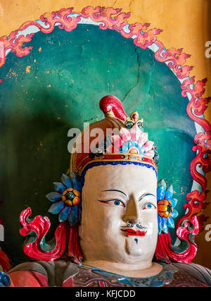 Buddhist artwork in Palcho Monaster - Gyantse, Tibet - Stock Photo
