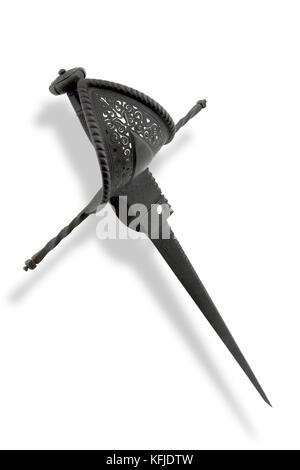 Spanish rondel dagger was a type of stiff-bladed dagger in Europe from the 14th century onwards, used by a variety - Stock Photo