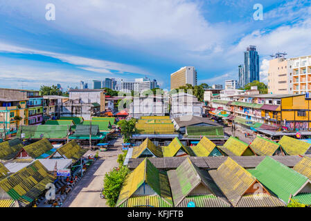 PATTAYA, THAILAND - AUGUST 08: This is a view of Pattaya city, a popular seaside tourist destination on August 08, - Stock Photo