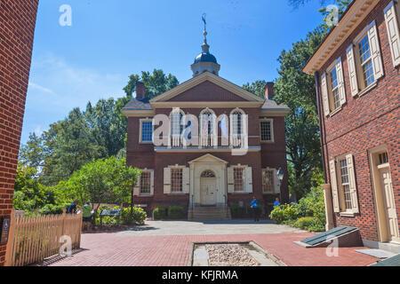 Carpenters' Hall , Old City , Philadelphia, Pennsylvania, USA - Stock Photo