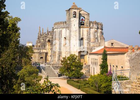 Convent of Christ or Convento de Cristo, Tomar, Ribatejo Province, Portugal - Stock Photo