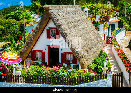 Traditional house (palheiro). - Stock Photo