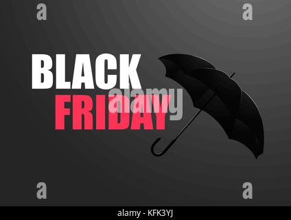 Black friday sale Vector illustration Template for the poster, banner and web with the inscription Black friday - Stock Photo
