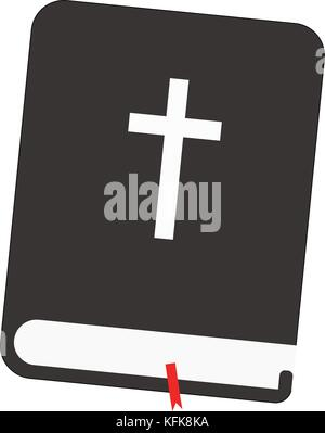 Holy Bible with Red tag - Stock Photo