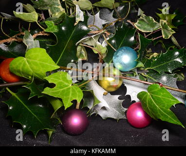 Holly and Ivy - Stock Photo