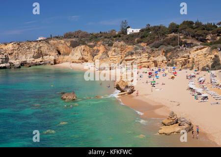 Praia do Sao Rafael beach, near Albufeira, Algarve, Portugal - Stock Photo