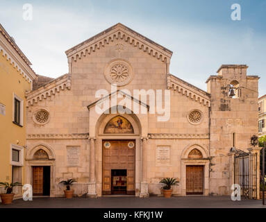 West front of Sorrento Cathedral, Sorrento, Italy. - Stock Photo