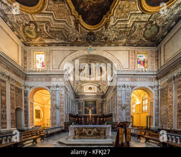 Altar and apse in Sorrento Cathedral, Sorrento, Italy. - Stock Photo