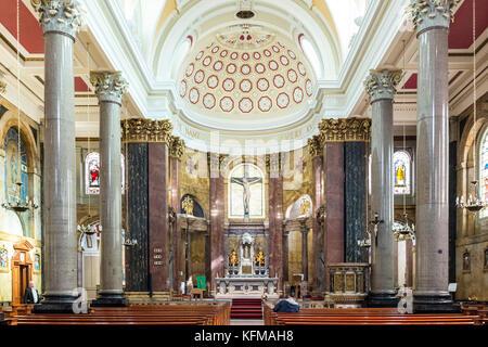 Interior of  St Wilfrid's Roman Catholic Church, Preston, Lancashire Chapel St, Preston - Stock Photo
