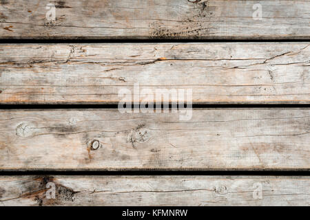 Weathered wooden floorboards background texture - Stock Photo