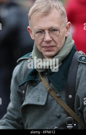 Belarus, Gomel, November 21, 2016, Reconstruction of the battle of the Second World War. German soldier of the Second - Stock Photo