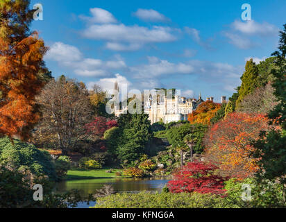 Sheffield Park Gardens, and house. - Stock Photo