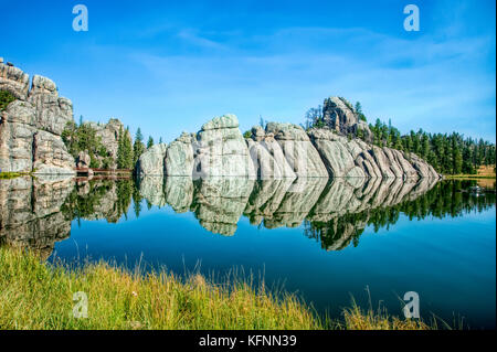 Sylvan Lake in the Black Hills of South Dakota - Stock Photo