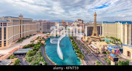 Aerial view of Las Vegas strip - Stock Photo