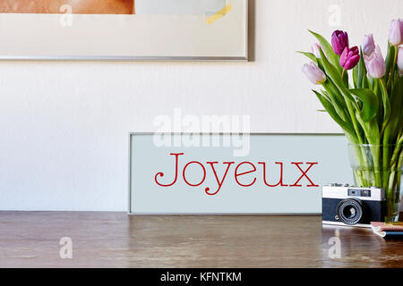 vintage decoration in modern atmosphere - Stock Photo