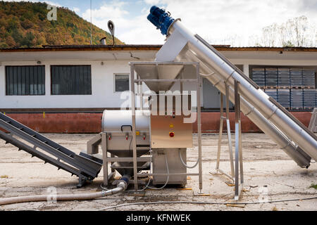 Whiskey whiskey and brandy distillery. Production equipment tools. - Stock Photo
