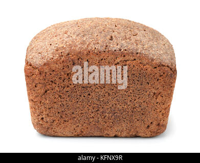 Loaf of rye bread isolated on white - Stock Photo
