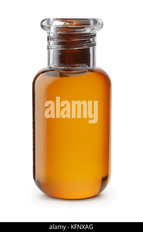 Small plastic shampoo bottle isolated on white - Stock Photo