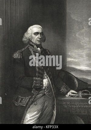 Richard Howe, 1st Earl Howe 1726–1799 - Stock Photo
