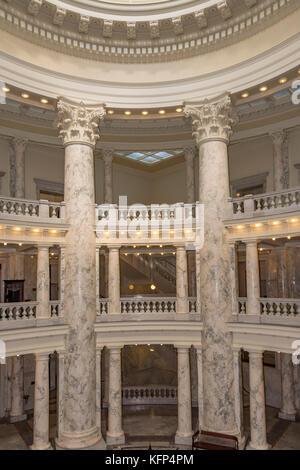 Interior of the Idaho State Capitol in Boise, Idaho USA - Stock Photo