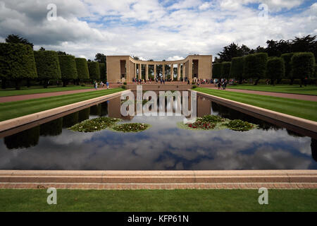 FRANCE: The Normandy American Cemetery and Memorial is pictured on June 29, 2017. - Stock Photo