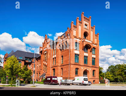 Berlin,Tegel. Part of old Borsig company buildings, manufacturers of steam engines & locomotives,brick historic - Stock Photo