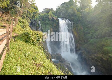 Pulhapanzak waterfalls in the Lake Yojoa region in Honduras. Central America - Stock Photo
