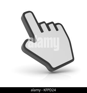 Hand cursor , computer generated image. 3d rendered image. - Stock Photo