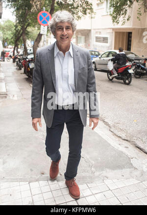 Athens, Greece. 31st Oct., 2017. Greek-American director Alexander Payne arrives for a masterclass to students and - Stock Photo