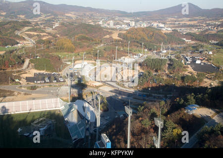 Alpensia Cross-Country Centre, Oct 30, 2017 : Alpensia Cross-Country Centre (C) in Alpensia Olympic Park of the - Stock Photo