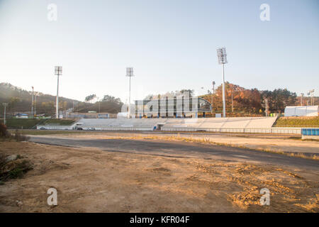 Alpensia Cross-Country Centre, Oct 30, 2017 : Alpensia Cross-Country Centre in Alpensia Olympic Park of the 2018 - Stock Photo