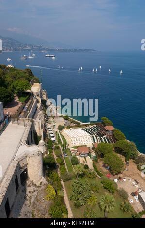 View from Monaco aquarium rooftop - Stock Photo
