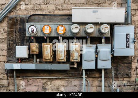 Smart power meters for gas consumption in Arizona - Stock Photo