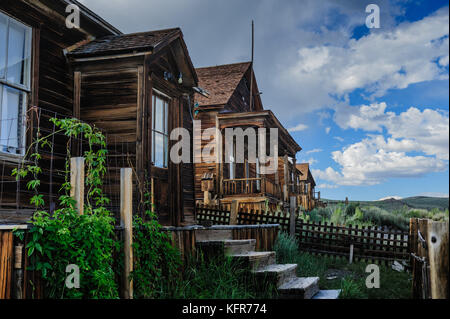 Ruined Houses in an American Ghost Town - Stock Photo