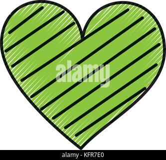 heart love romance passion decorate stripes - Stock Photo