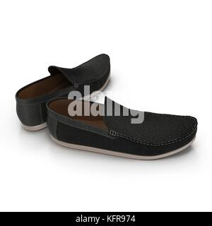 The man's shoes isolated on white 3D Illustration - Stock Photo