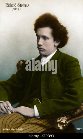 Richard Strauss in 1894 (young). German composer & conductor, 1864-1949 - Stock Photo